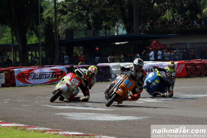 Vespa Balap Indonesia siap mementaskan Scooter Grand Prix putaran kedua, Minggu (7/6) di Sirkuit Karting Sentul