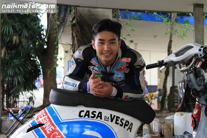 Harlan Fadhillah, Pembalap Nasional yang akan turun di Scooter Grand Prix Seri I  pada 27-28 Februari mendatang. Foto: Yusuf Arief