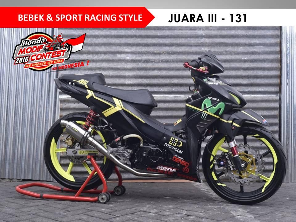 Daftar Pemenang Dan Foto Honda Modif Contest 2016 Surabaya