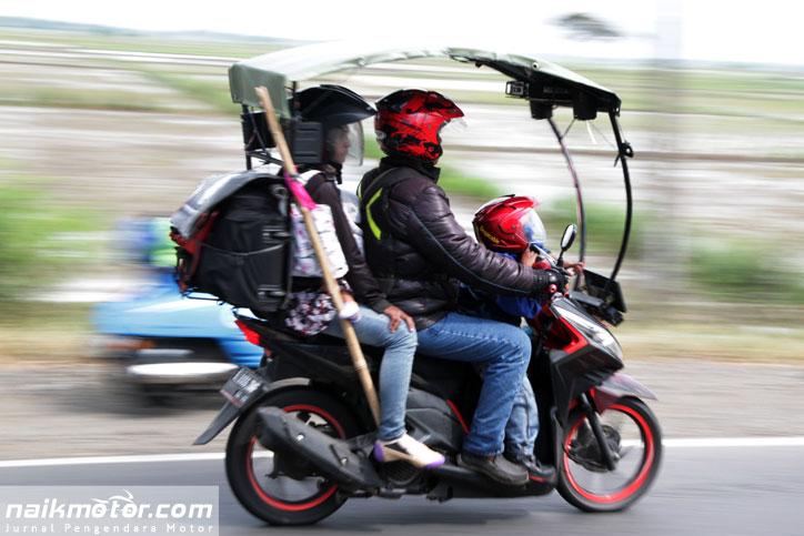 persiapan mudik naik motor