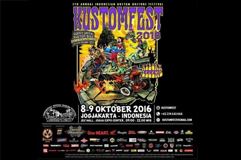 Kustomfest 2016 'Reborn Legend' Ajak Builder Senior Turun Gunung