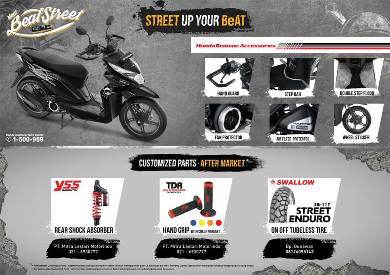 Daftar Aksesori Dan Harga Honda BeAT Street ESP
