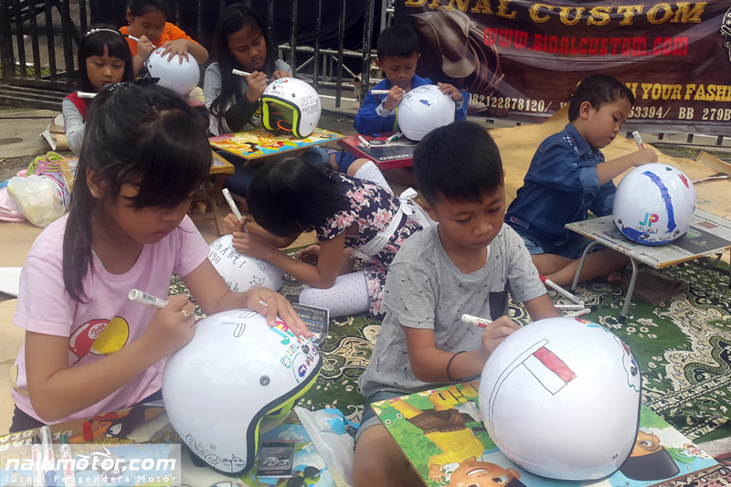 JP Helmet Gelar Lomba Mewarnai Helm Anak di Parjo Bandung