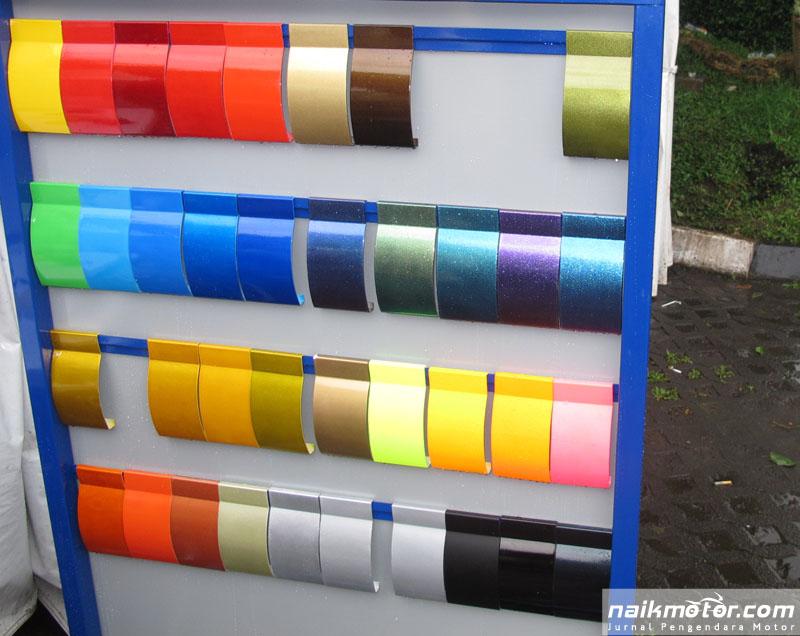 Beberapa pilihan warna Sapporo Paint