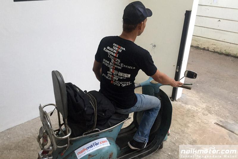 Skuteris Ini Riding Sambil Menebar Virus Berkendara Aman