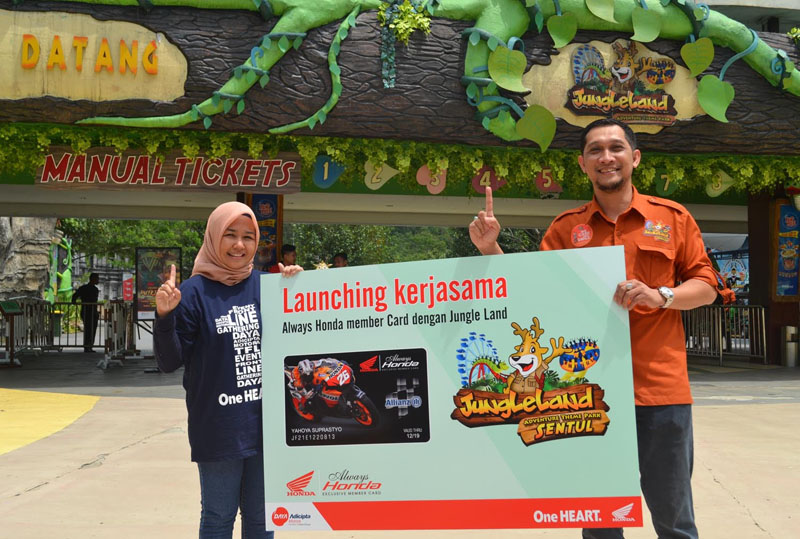 pemegang kartu Always Honda dapat menikmati diskon masuk ke Jungleland Adventure Themepark