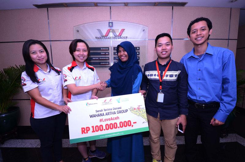 Yayasan Wahana Artha Sampaikan Bantuan untuk Korban Gempa Aceh