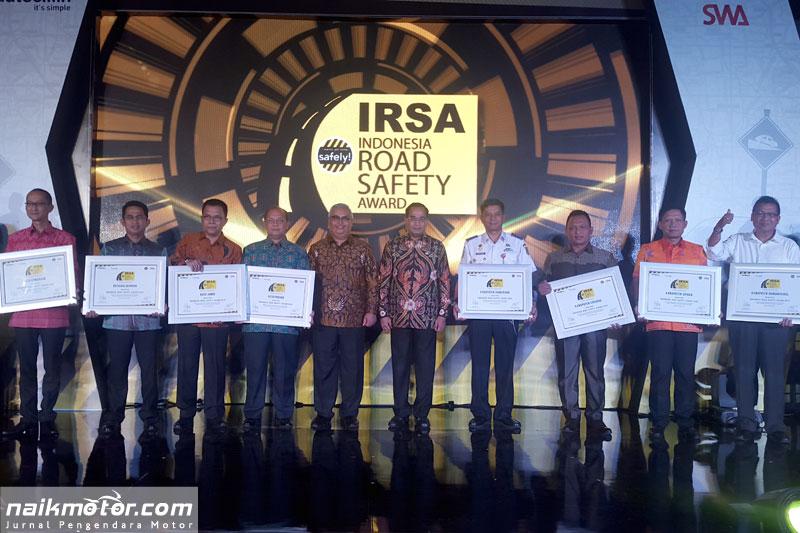 IRSA 2016 Anugerahi Kota dan Kabupaten Teraman Untuk Berkendara