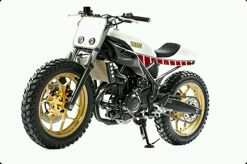Modifikasi Yamaha MT-03 Dirt Tracker