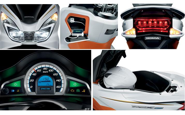 Honda PCX 150 2017 mendapat fitur DRL LED