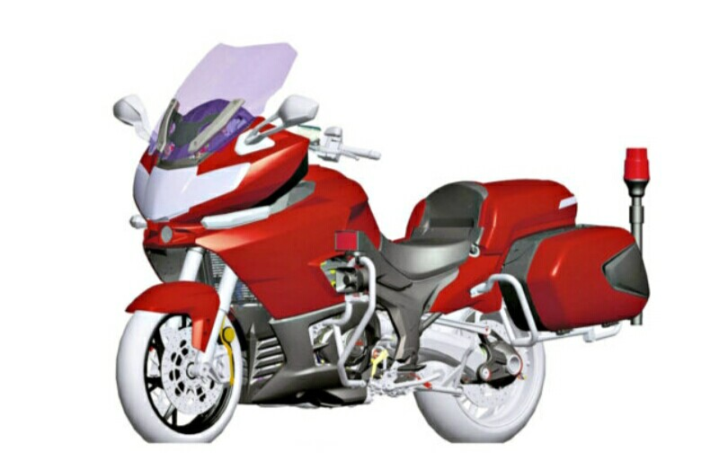 QJiang Perlihatkan Sepeda Motor Besar Mirip BMW K1600GT