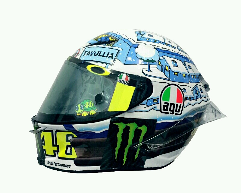 helm baru rossi di tes motogp sepang dengan grafis musim. Black Bedroom Furniture Sets. Home Design Ideas