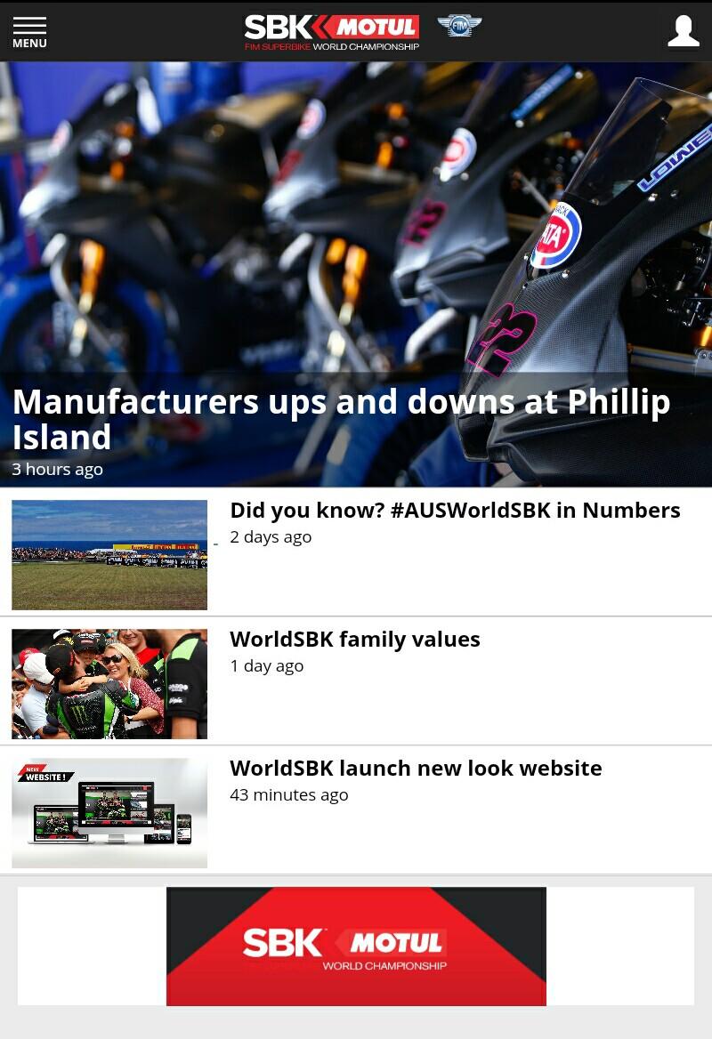 Situs WorldSBK Kini Tersedia Versi Mobile yang Responsif