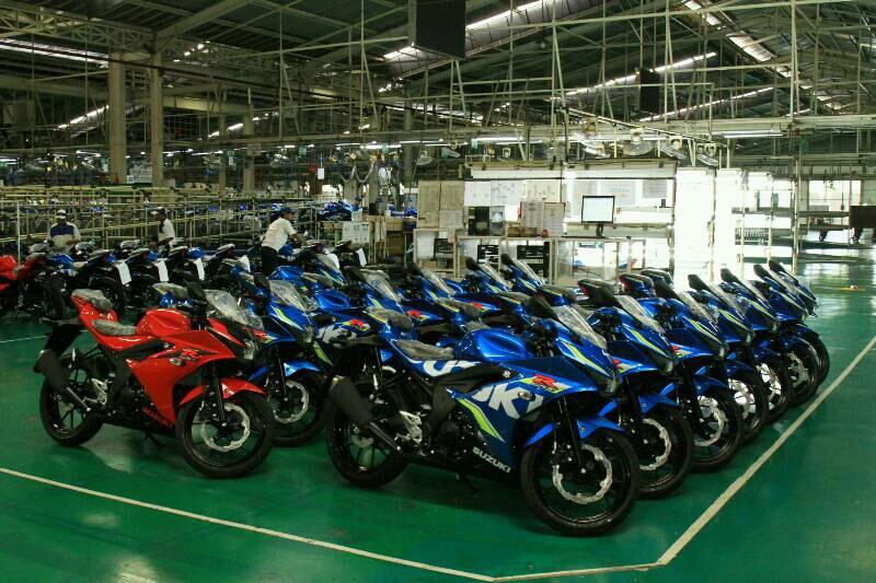 Indonesia menjadi basis produksi Suzuki GSX-R150 karena memiliki pusaTambun, Suzuki GSX-R150 dirakit 37 unit per jam