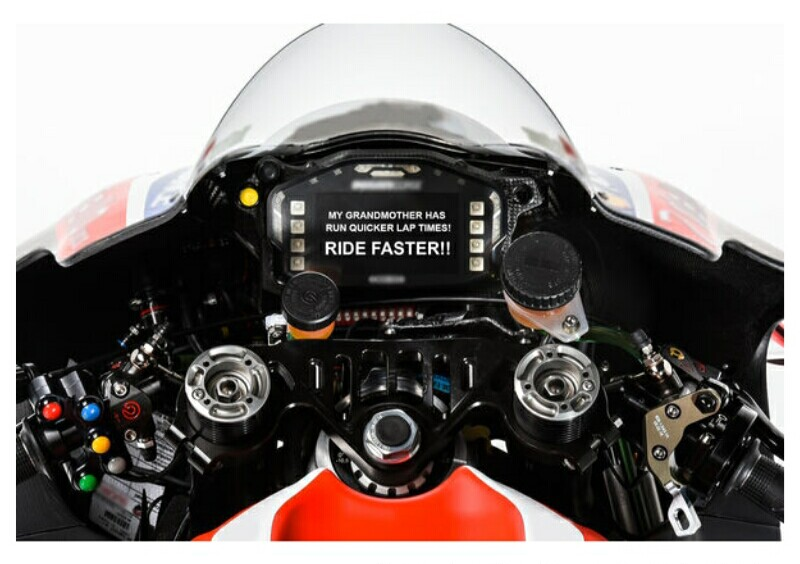Dashboard Message di MotoGP Losail