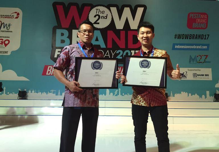 Ban IRC Raih Double Gold Champion WOW Brand