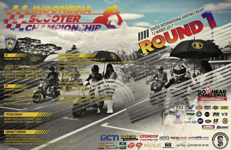 Pembalap Asing di Seri I Indonesian Scooter Championship 2017