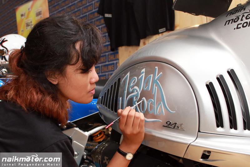Hand Lettering Vespa 946 Bellissima Karya Wanita Indonesia