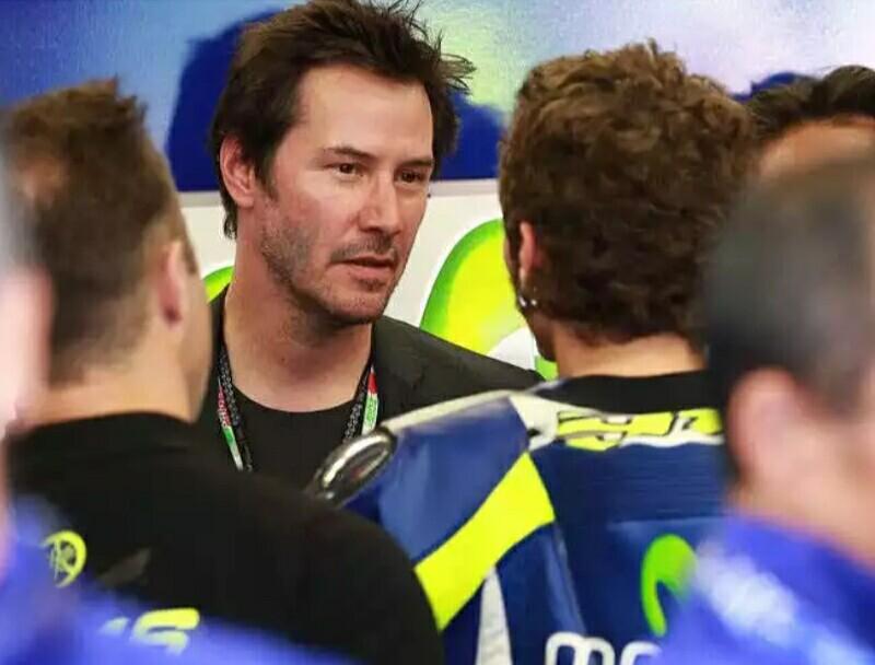 Keanu Reeves fasih bicara soal MotoGP 2017 dan Valentino Rossi