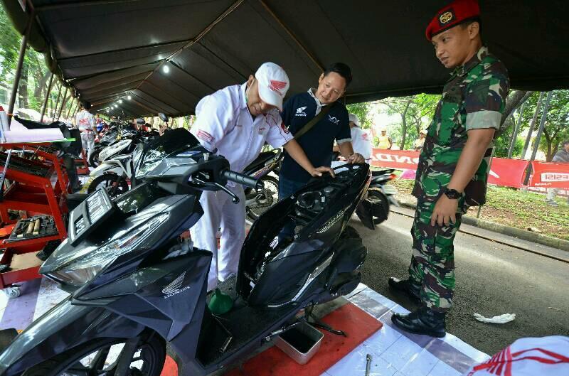 Wahana Honda Memeriahkan HUT Kopassus ke-65 dengan Service Gratis