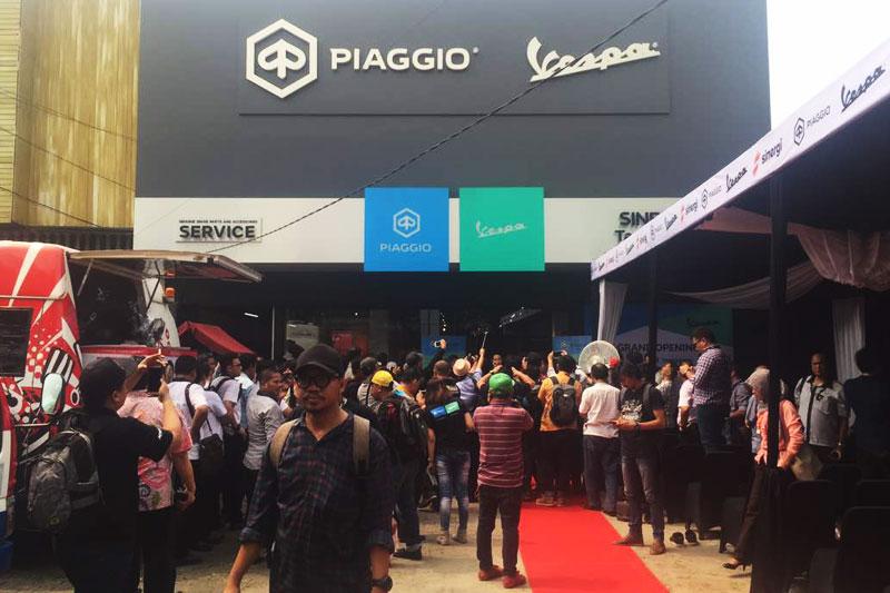 Piaggio Buka Diler Baru, Sasar Orang Kaya Tangerang