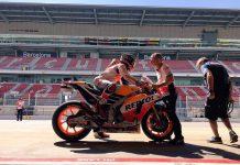 sesi akhir tes MotoGP Catalunya