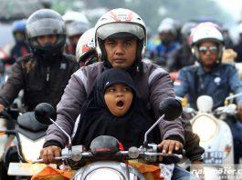 Realitas Pemudik Naik Motor Bawa Anak Sangat Memprihatinkan