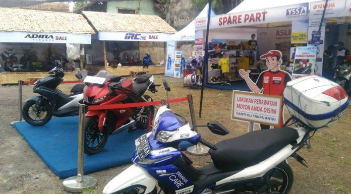 Posko Mudik Yamaha Nagrek Mulai Kedatangan Pemudik Naik Motor