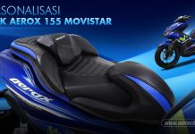 Modifikasi yamaha Aerox 155 livery movistar