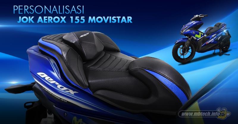 modifikasi yamaha aerox 155 livery movistar motogp