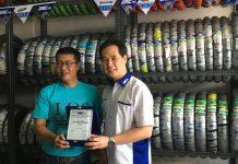Semarak IRC Tire Beri Apresiasi Toko Penjual Ban Motor di Bandung
