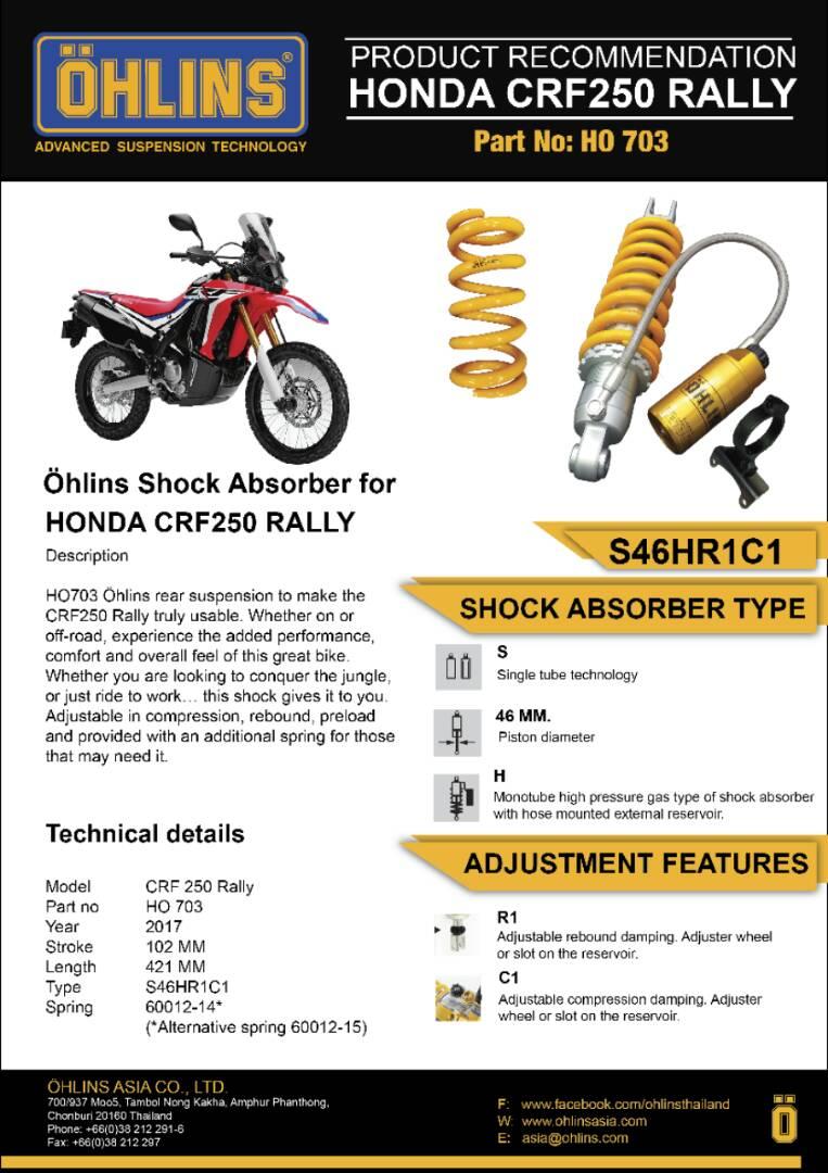 Mau Modifikasi Honda CRF250 Rally? Jangan Lupa Pakai Shock Ohlins