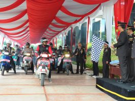 Pawai Vespa Hias Kutu Community Dilepas Wakapolda Sumatera Barat