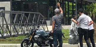 Sosok Honda 150SS versi produksi tertangkap kamera mata-mata di Thailand. Diduga kuat foto ini bocor saat sedang melakukan proses pembuatan video iklan.