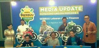 Pemenang Serbuu Lebaran Tahap I Adira Finance Dapat Sportbike 250 cc atau Modal Kerja