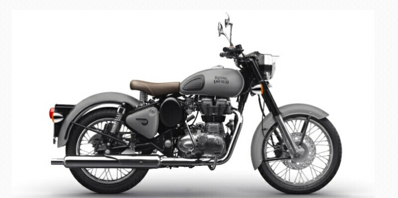 Royal Enfield Classic 500 Gunmetal Grey dan Stealth Black