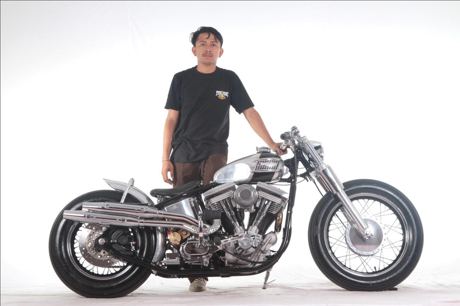 Harley-Davidson milik Alit Julliarta Murdha sebagai pemenang Best of the Best Denpasar
