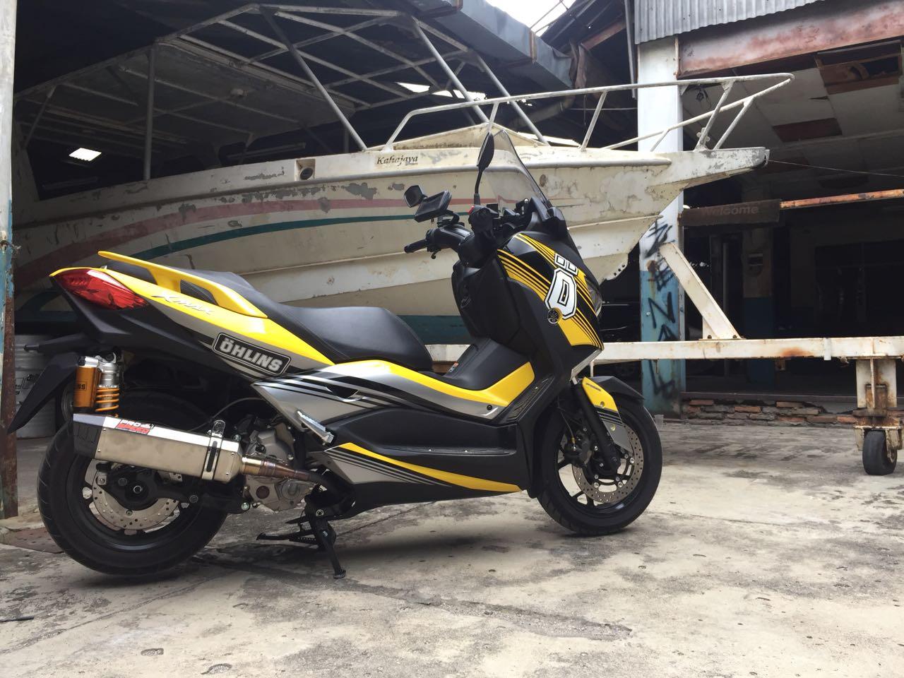 Modifikasi Yamaha Xmax, Iconic Bike Ohlins Indonesia