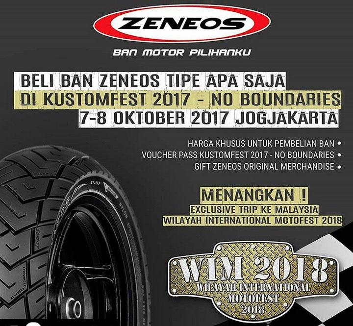 Beli Ban Zeneos di Kustomfest 2017 Berhadiah Ke Acara Custom di Malaysia