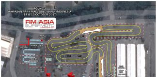 Layout Sirkuit FIM Asia Supermoto 2017 Solo
