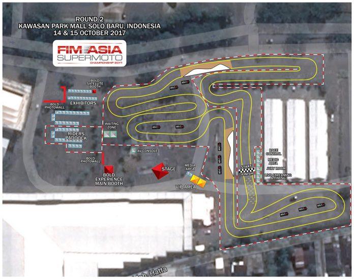 Layout Sirkuit FIM Asia Supermoto 2017 Solo