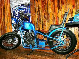 Motor Custom Biru Cerdi