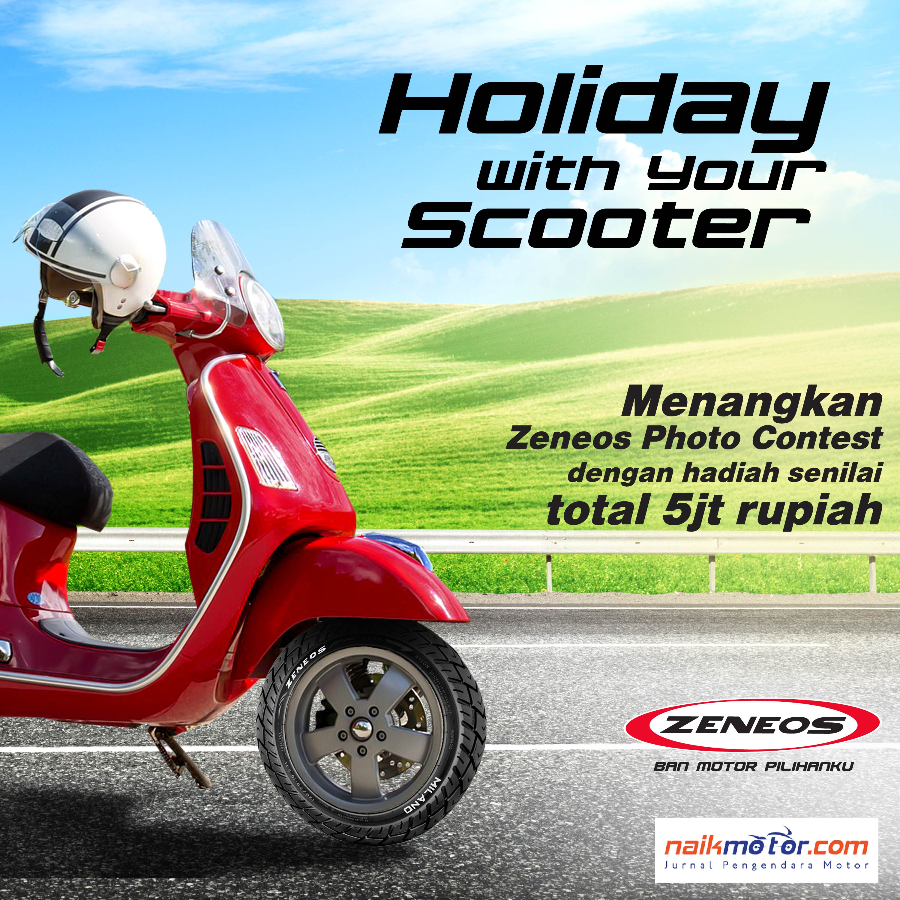 Zeneos Gelar Holiday With Your Scooter Instagram Photo Contest