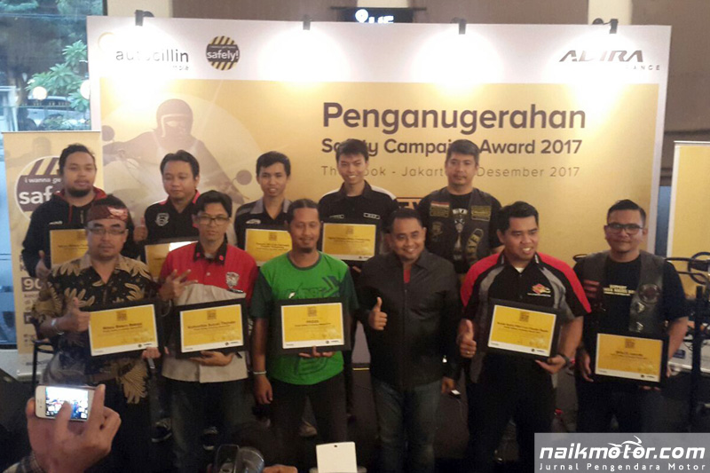 NMax Riders Bekasi Pemenang Pertama Safety Campaign Award 2017