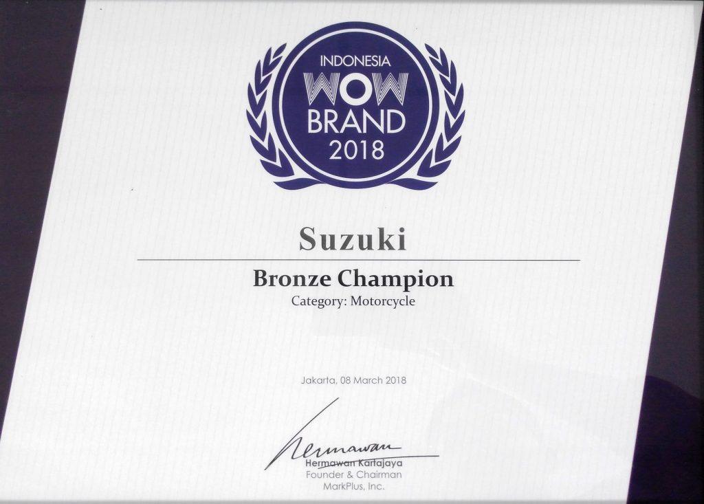 Suzuki Meraih Penghargaan WOW Brand 2018