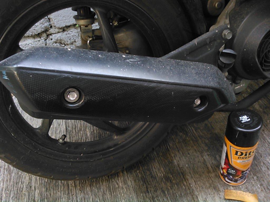 Cover Knalpot Honda Beat Baret Bisa Diobati Dengan Cat Semprot Ini