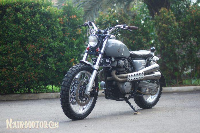 Honda CB450 scrambler