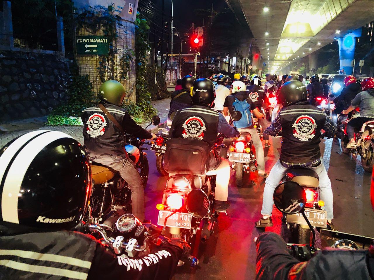 Kawasaki Retro Riders W-175 Jakarta