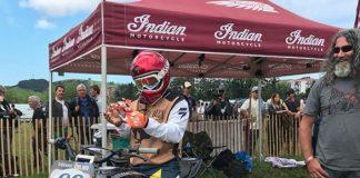 Steve Caballero Pacu Indian Scout Pakai Helm Indonesia
