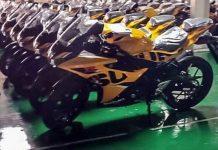 Suzuki GSX-R150 warna kuning